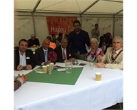 Union President Ali Milani, with the Mayor, Mayoress, and other Hillingdon Councillors.