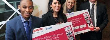 Photo of Union of Brunel students and Brunel University London with the signed pledge