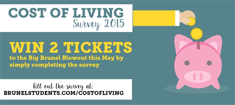 Cost of Living Survey - Win 2 tickets to the Big Brunel Blowout!