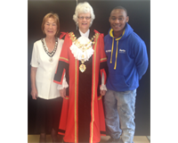 The Mayor of Hillingdon, with Union President Martin