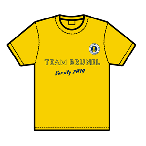 Image for 2019 T-shirt only yellow medium